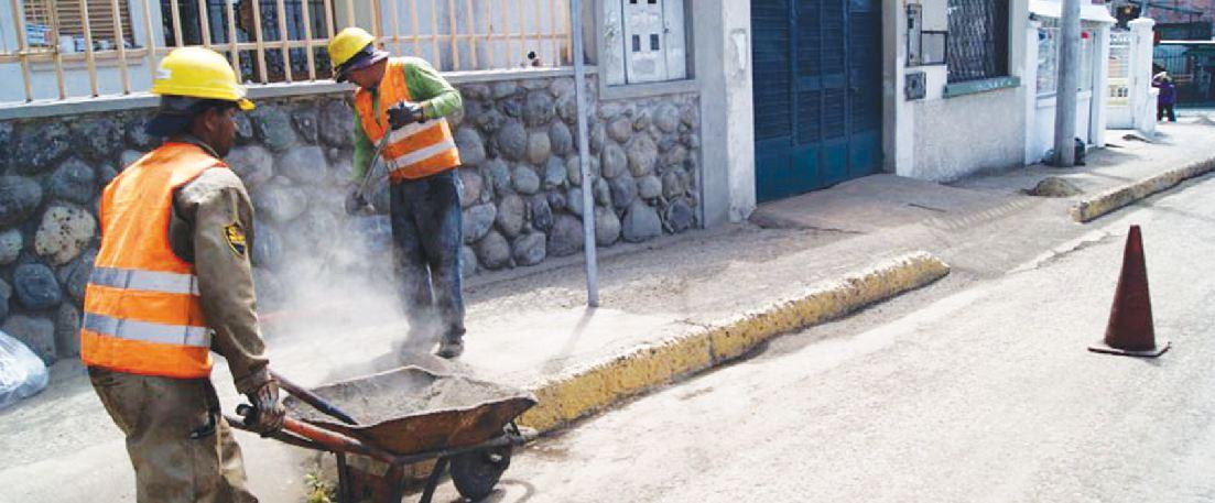 Obras en repavimentación