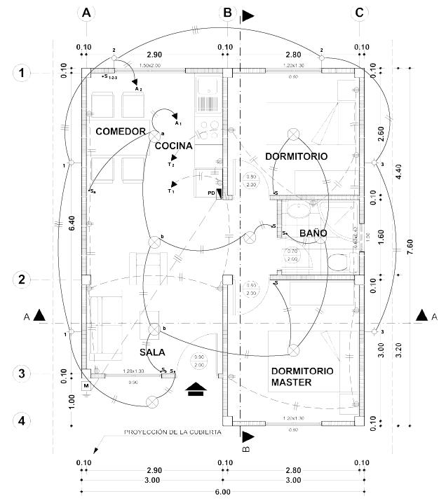 Lectura de planos el ctricos el oficial for Dimensiones arquitectonicas