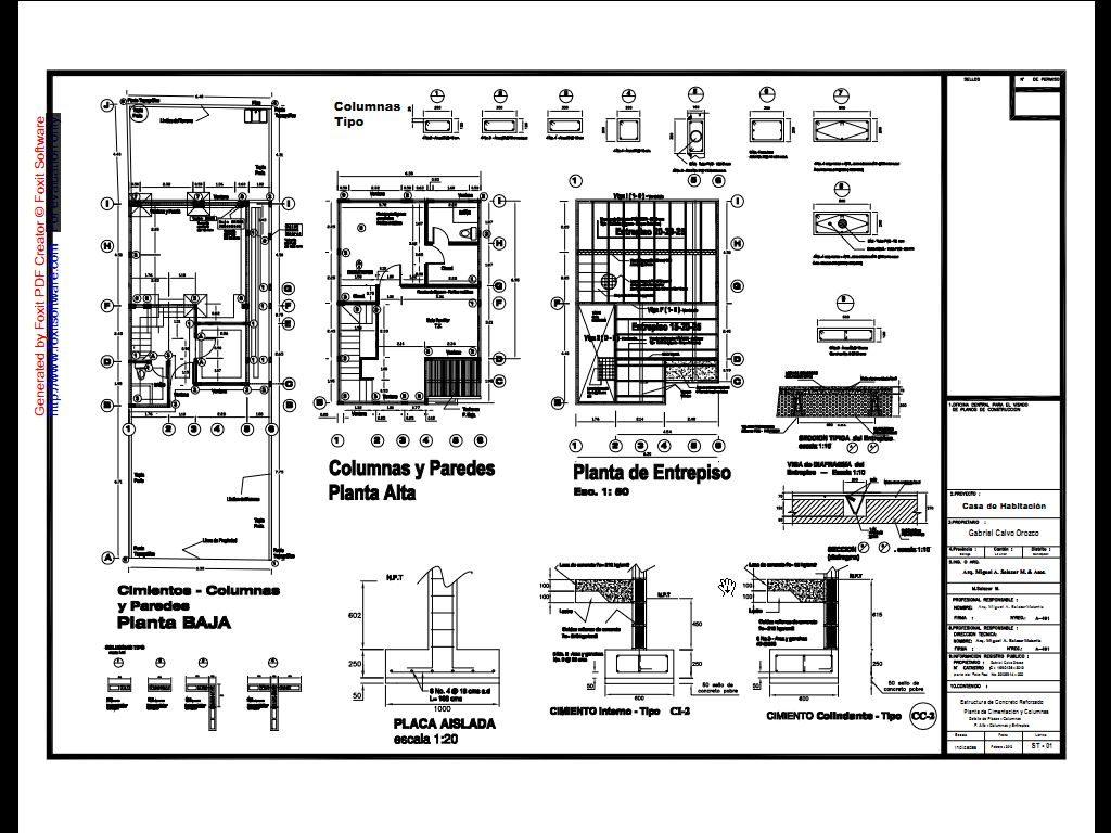 Interpretaci n y lectura de planos estructurales parte 1 for Pie de plano arquitectonico pdf