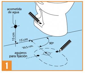 Correcta instalaci n de inodoros est ndar 2 piezas taza for Dimensiones de un inodoro